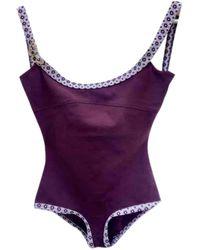 Louis Vuitton Bain en Coton - elasthane Bordeaux - Violet