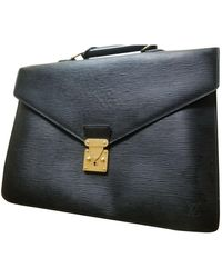 Louis Vuitton Leder Business tasche - Schwarz