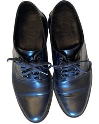 Loewe Leather Lace Ups - Black