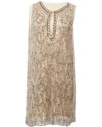 Jenny Packham - Mini robe en soie - Lyst
