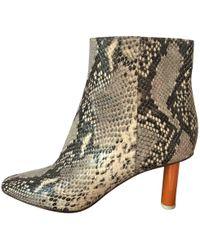 Vetements - Boots en cuir - Lyst