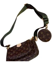 Louis Vuitton Multi Pochette Accessoires Leinen Cross body tashe - Braun