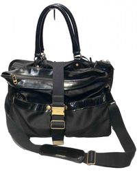 Lanvin Patent Leather 24h Bag - Black