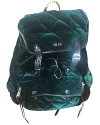 Sonia Rykiel Velvet Backpack - Green