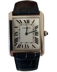 Cartier Tank Solo Silver Steel Watches - Multicolour
