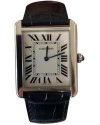 Cartier Reloj en acero plateado Tank Solo - Multicolor