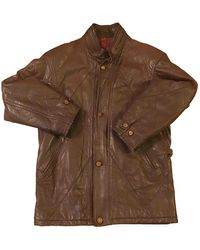 Burberry Vintage Brown Leather Coats