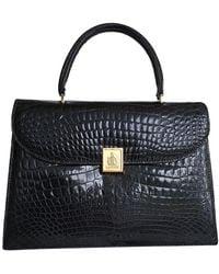 Lanvin Crocodile Handbag - Black