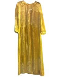 Bottega Veneta Velvet Mid-length Dress - Yellow