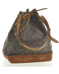 Louis Vuitton Noé Brown Cloth Handbag