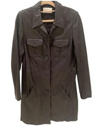 Zadig & Voltaire Leather Trench Coat - Black