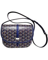 Goyard Belvedère Blue Cloth Handbag