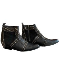 Anine Bing Leather Ankle Boots - Black