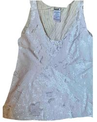 Chloé Glitter Vest - White