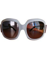 Roger Vivier Oversized Sunglasses - White