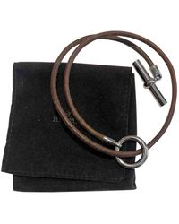 Hermès Bracelets Glenan en Cuir Marron - Multicolore