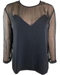 Jean Paul Gaultier - Black Polyester Top - Lyst