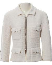 Chanel Vest en Coton Blanc - Multicolore