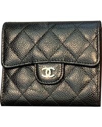 Chanel Leder Portemonnaies - Schwarz