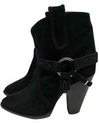 Isabel Marant - Black Suede Ankle Boot - Lyst