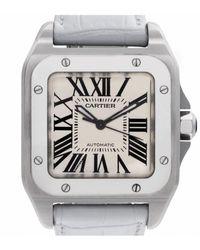 Cartier Santos 100 White Steel Watch