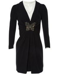 Andrew Gn - \n Black Silk Dress - Lyst