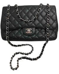 Chanel Borsa a mano in pelle nero Timeless/Classique