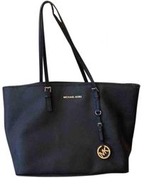 Michael Kors Jet Set Leather Handbag - Black