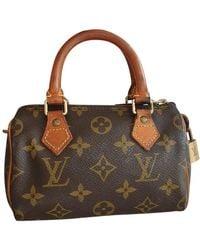 Louis Vuitton Nano Speedy / Mini Hl Cloth Handbag - Brown