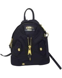 Moschino Biker Black Cloth Backpack