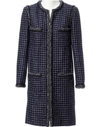 Chanel Navy Cotton Coat - Blue