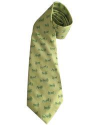 Hermès Corbata de Seda - Verde