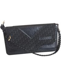 Dior - Pre-owned Vintage Addict Black Cloth Clutch Bags - Lyst