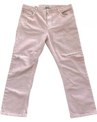 Acne Studios Jean droit Pop - Rose