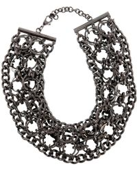 Givenchy - Silver Metal Necklace - Lyst