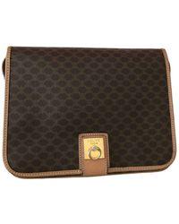 Celine Cloth Crossbody Bag - Brown