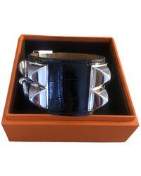 Hermès Collier De Chien Alligator Bracelet - Black