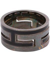 Hermès Metallic Silver Ring