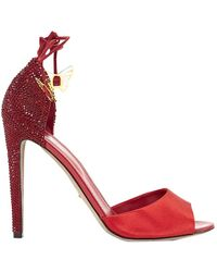 Sergio Rossi - Red Leather - Lyst