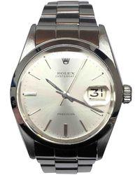 Rolex Reloj en acero plateado Oyster Perpetual 34mm - Metálico