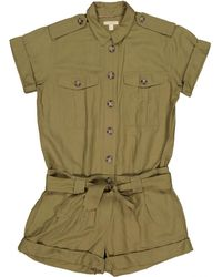 Burberry Pre-owned Khaki Silk Jumpsuits - Green
