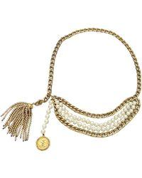 Chanel Cinturón en perlas dorado - Multicolor