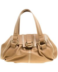 BVLGARI - Brown Leather Handbag - Lyst