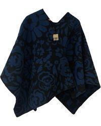 Burberry Wool Poncho - Blue