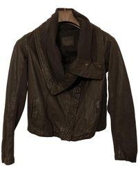 AllSaints Leather Biker Jacket - Brown