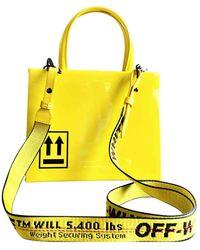 Off-White c/o Virgil Abloh Leather Handbag - Yellow