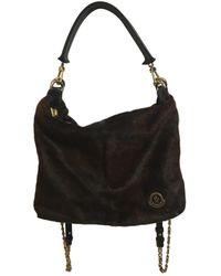 Moncler Brown Pony-style Calfskin Handbag