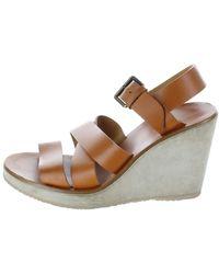 A.P.C. Camel Leather Sandals - Multicolour