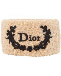 Dior - Beige Cloth Bracelet - Lyst
