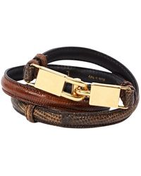 Céline Brown Lizard Belt